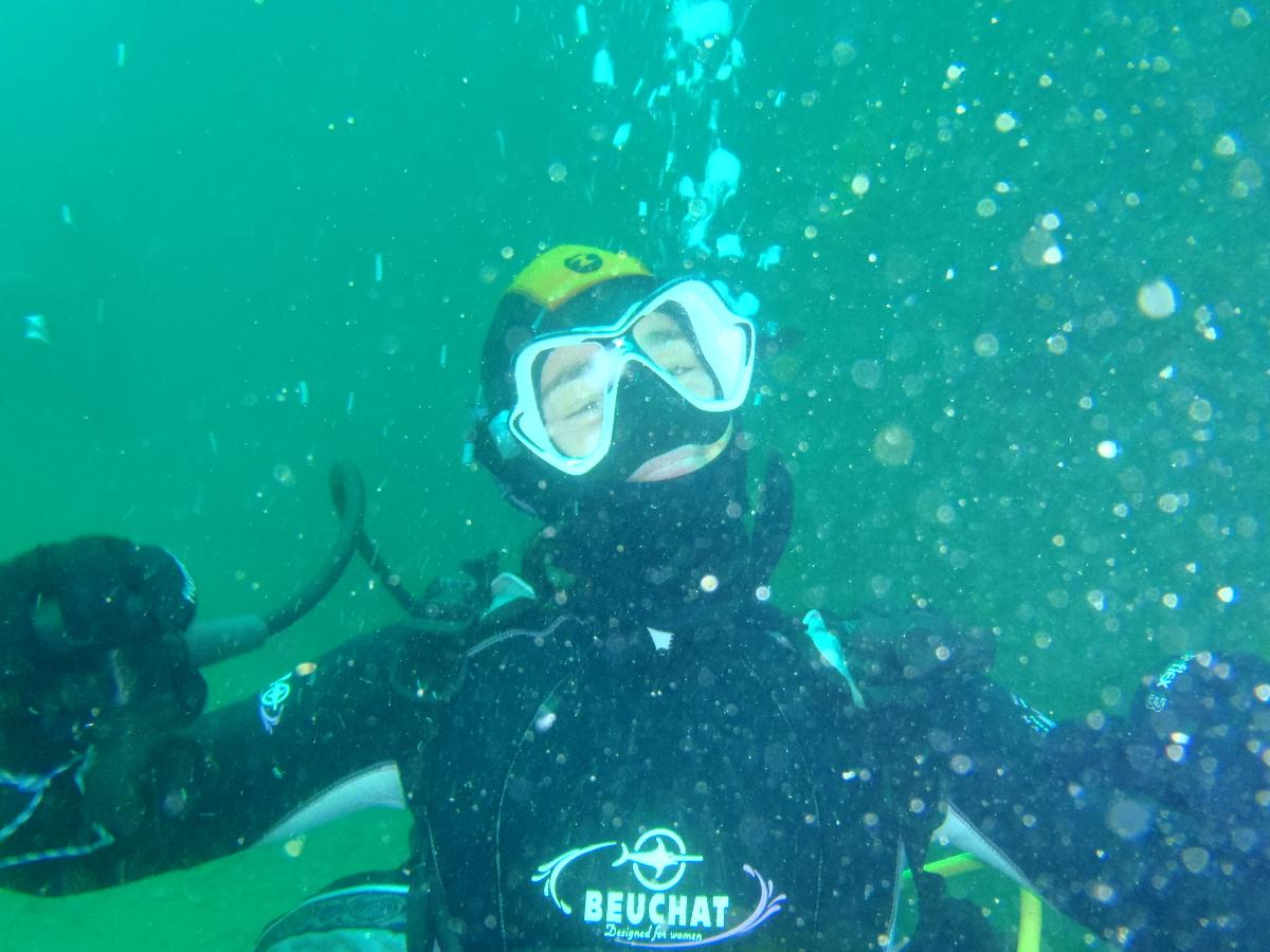 Sophie, heureuse sous l'eau