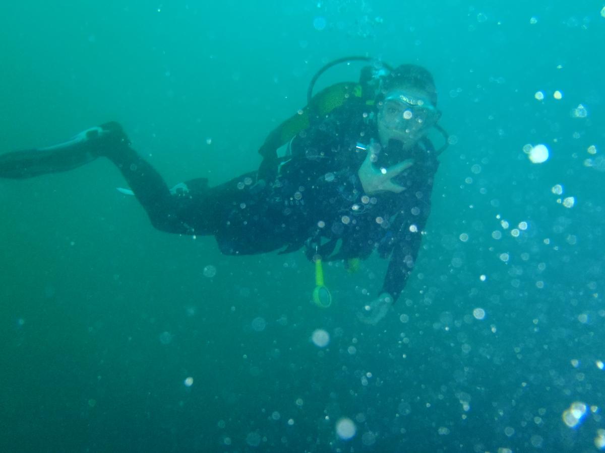 Manon, toujours zen sous l'eau
